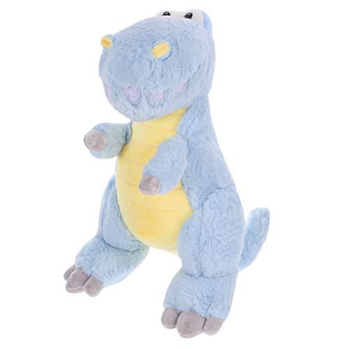 TOYANDONA Dinosaurio de Peluche de Juguete de Felpa Suave Sentado Dinosaurio Cojín Muñeca Peluche Figuras Juguete Almohada para Baby Shower Cumpleaños Niños Regalo 35Cm Azul Cielo