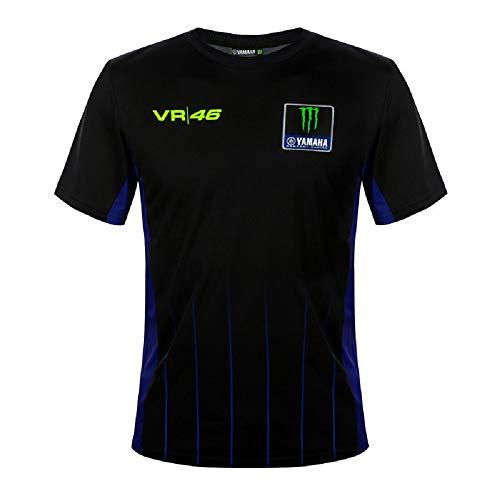 Valentino Rossi Kollektion Yamaha Dual Poloshirt für Herren Small Schwarz
