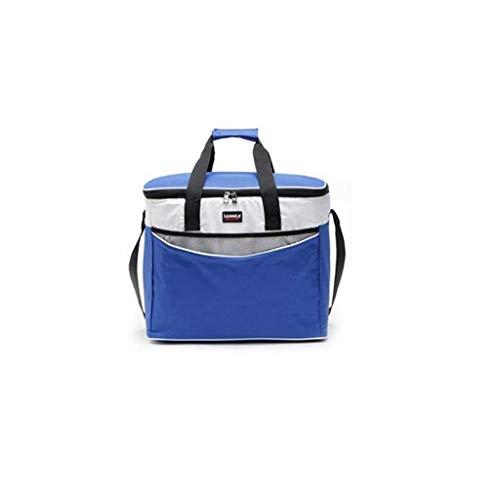 HSJ LF- Oxford Tela Grande Bolsa térmica Libre del Bolso de la Caja de Almuerzo de Picnic portátil refrigerado Mantener Fresca la Bolsa Protección del Medio Ambiente (Color : Blue)
