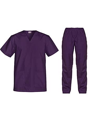 B-well Cesare - Conjunto de ropa de rascar unisex y pantalón de chándal para médicos y médicos arándanos L