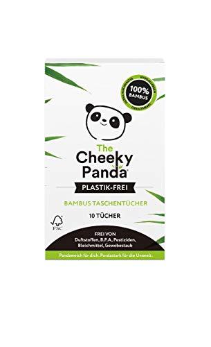 The Cheeky Panda Limited – Bamboo Taschentücher | Packung je 10 Blatt | Plastikfrei, Perfekt für Unterwegs, Super Sanft, Reißfest Nachhaltig