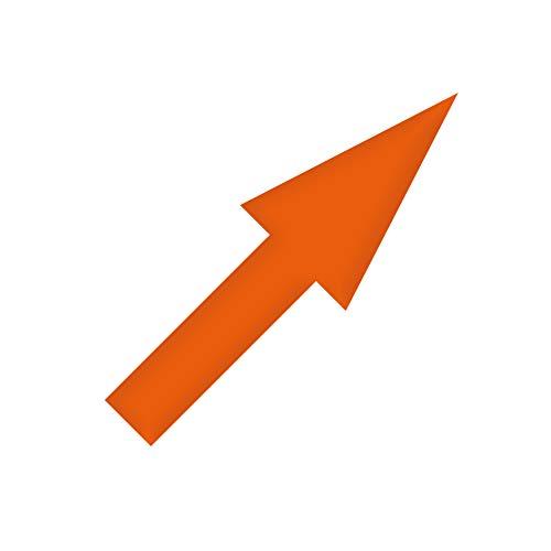 GreenIT Aufkleber 10cm orange schmal Pfeil Tattoo Decal Richtung Zeichen Symbol 4061963037355