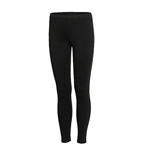 Barrageon Pantaloni a Compressione Lunghi Sportivo Termici per Donna Nero-XL