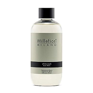 Foto di Millefiori Milano Ricarica per Diffusore di Aromi per Ambiente, Fragranza, White Musk, 250 ml