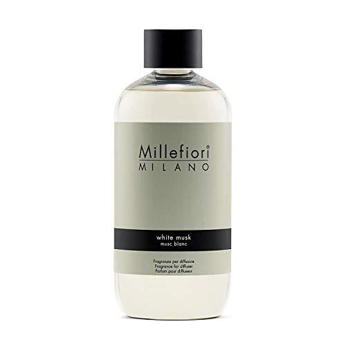 Millefiori White Musk Nachfüllflasche 250 ml für Natural Raumduft Diffuser, Plastik, Gelb, 8.2 x 5.5 x 13.7 cm