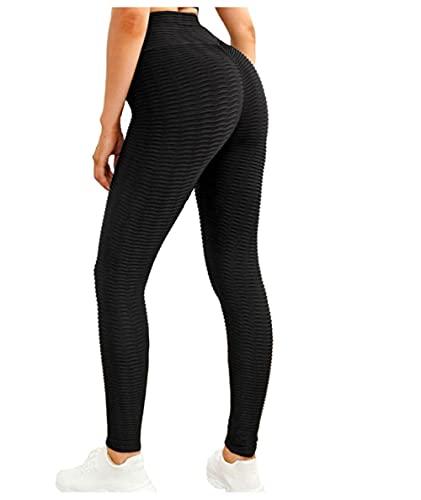 MLLM Ideal para Danza Correr Trotar Ejercicio,Pantalones de Yoga de Cadera de Cintura Alta, Leggings Deportivos Ajustados-Negro_S,para Danza, Yoga Yoga Pantalones