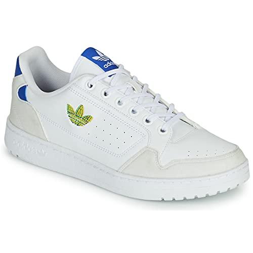 adidas NY 90, Zapatillas para Correr Hombre, FTWR White Semi Screaming Green Team Royal Blue, 42 2/3 EU