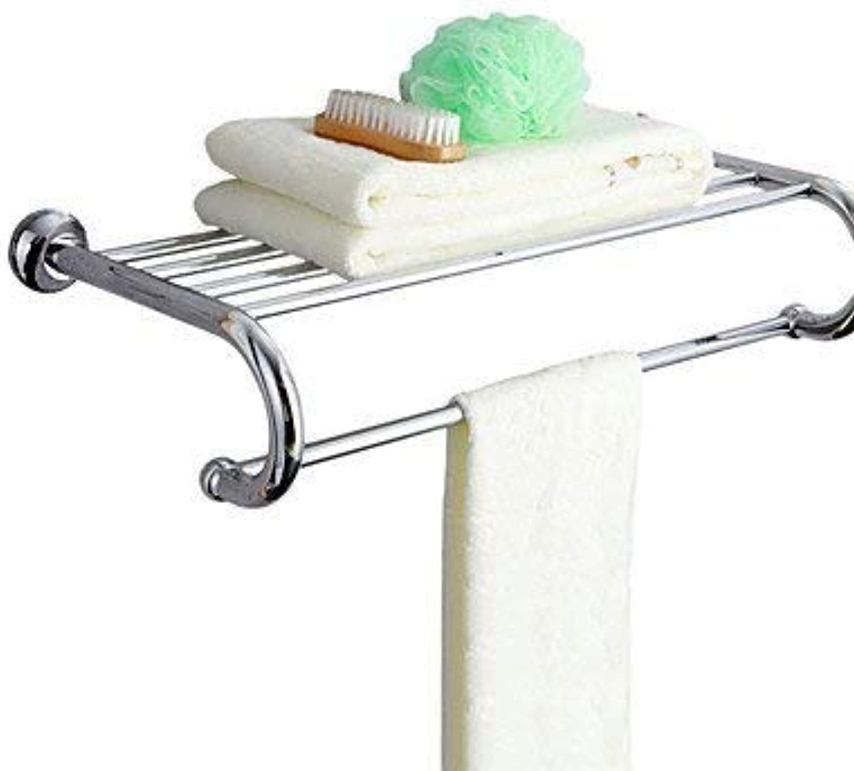Towel Rack Shelf-Bathroom Accessories Brass Double Towel Rack Bathroom Towel Shelf