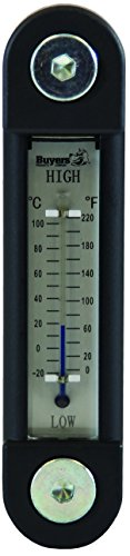 Buyers Products LRD02A Black and Silver Oil Level Gauge with Thermometer