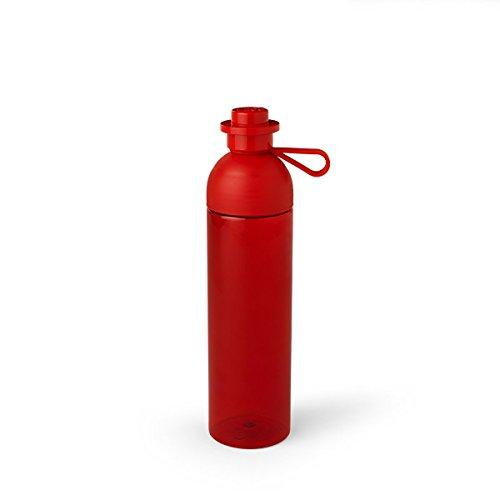 LEGO 40430001 Botella de hidratación transparente, plástico, grande, color rojo