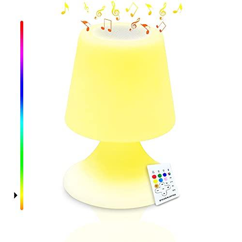 Lámpara LED para mesita de noche, regulable, con mando a distancia, con temporizador, batería de 3 horas, recargable por USB, para dormitorio, salón, hotel, café