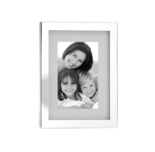 Fink Fotorahmen Ben - versilbert zum Stellen und Hängen Format 10x15 cm