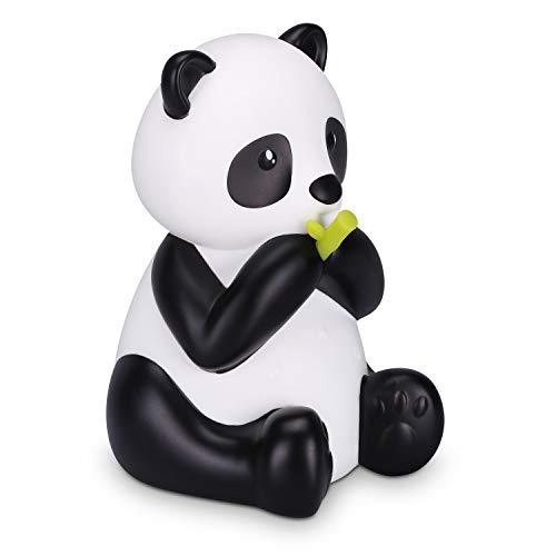 Navaris Lámpara LED de oso panda - Luz de noche con luz blanca y cambio de color para mesita de noche - Luz con forma de panda para bebé niño