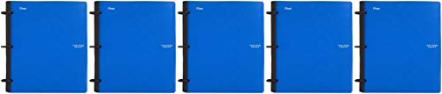 "Five Star Flex Hybrid NoteBinder, 1 Inch Binder with Tabs, Notebook and 3 Ring Binder All-in-One, Blue (72011), 11 1/2"" x 10 1/2"" x 1 1/4""-5 Pack"