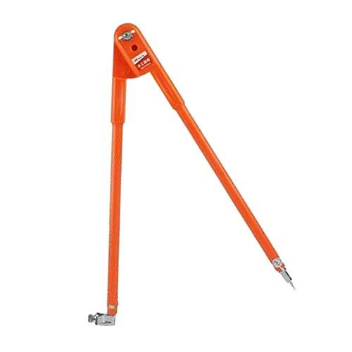 Größe Tafelzirkel Tafelzeichengeräte Stechzirkel Bleistiftzirkel Zirkel Maker Abreißer, Orange - L