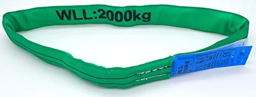 2x Rundschlinge 2000 kg 2 t Tragkraft 6m Hebeschlinge Kranschlinge extrem hohe Festigkeit