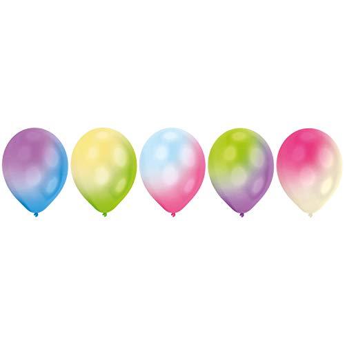 amscan 9901049 LED Latexballon Set, Weiß