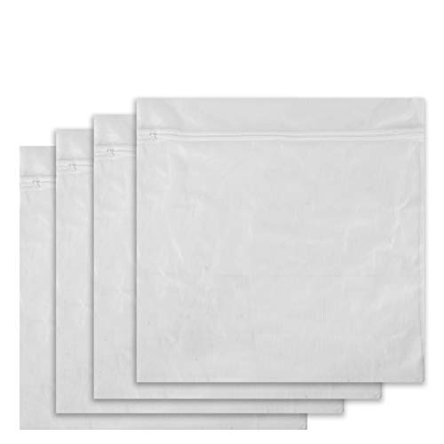 Supply Essentials Laundry Bags, Set of 4 XL (Extra Large) Mesh with Zipper for Delicates, Intimates, Lingerie, Bras, Dirty Laundry, Accessories Wash Bag, Jumbo Travel Organizer Net Bag (White)