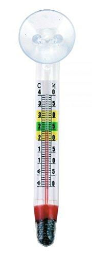 Kerbl Aquarium Schwimm-Thermometer mit Saugnapf