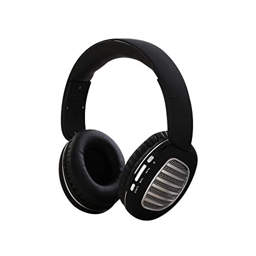 Drahtloses Headset Bluetooth 4.2 Stereo OverEar Faltbare Kopfhörer Eingebautes Mikrofon(Schwarzes Silber)