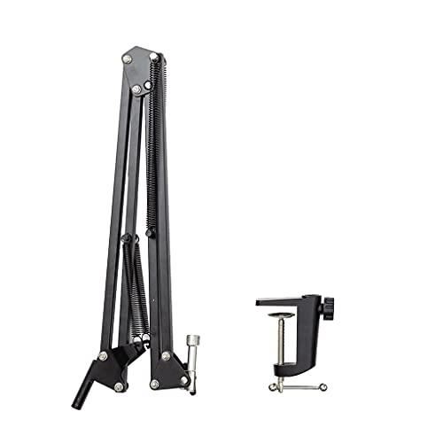 Pedestal Suporte Mesa Articulado Para Microfone Studio Rádio Sem Pop Filter
