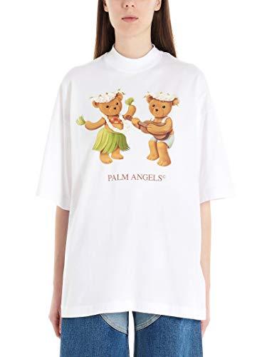 Palm Angels Luxury Fashion dames PWAA017S20JER00701600160 wit T-shirt | Lente zomer 20