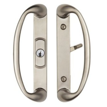 Sonoma Sliding Glass Door Handle with Center Position Keyed Cylinder will only fit 1-3/4 inch Thick Doors with 3 hole face bore on door and 3-15/16 inches CTC distance between the Screwholes.