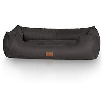 Knuffelwuff panier chien, lit pour chien, coussin, corbeille pour chien Dreamline, noir XXL 120 x 85cm