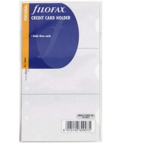 Filofax 133603 - Clasificador para tarjetas de crédito y de visita para agenda de anillas