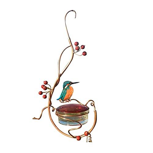 Mnwan Alimentador de colibrí, alimentador de pájaros de Patio, jardín al Aire Libre, Distribuidor de alimentación de Aves, Colgante de Metal (Size : A)