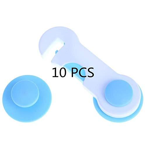 Baby proofing, 2/5 / 10pc multi-use baby ladeslot plastic kind beveiliging voor kast koelkast raam kast beschermen peuter veiligheid beschermen, blauw 10st