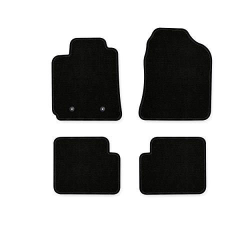 Bär-AfC TY03886 Basic Auto Fußmatten Nadelvlies Schwarz, Rand Kettelung Schwarz, Set 4-teilig, Passgenau für Modell Siehe Details