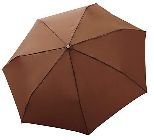 """bugatti Taschenschirm """"Take it duo"""" Uni – Stabiler, leichter Regenschirm – Auf-Zu-Automatik – Für besten Schutz – Uni Coconut"""