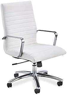 Brite Furniture Brite High Back Office Chair Snow White Polyurethane Seat and Back
