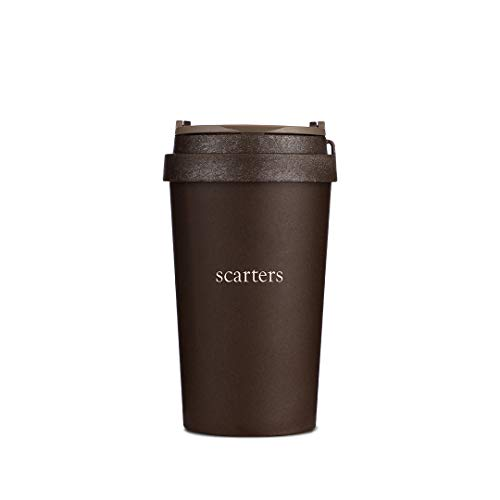 scarters Coffee Tumbler - Brown, 380ml, Recycled Material, 1 Piece