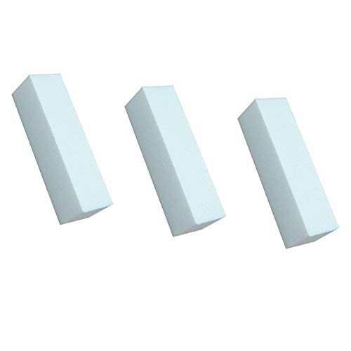 Gcroet 3 X Nail Art Blanc Tampon Polonais Polissage Des Ongles Outil Ongles PonçAge De Polissage Bloc De Fichier Fichier De Manucure Salon Pour La Maison