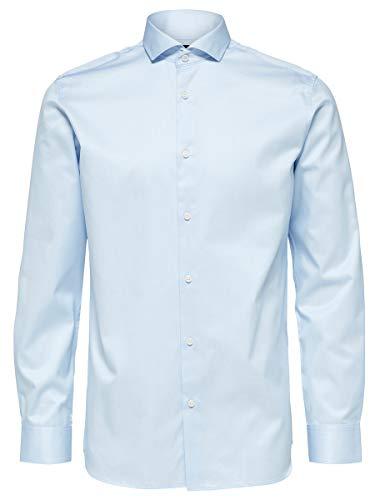 SELECTED HOMME Male Hemd SLHPELLE Regular FIT - Llight Blue