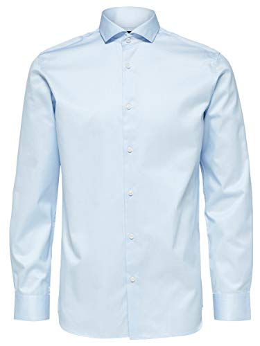 SELECTED HOMME SLHREGSEL-Pelle Shirt LS B Noos Camicia Formale, Blu (Light Blue Light Blue), Large Uomo