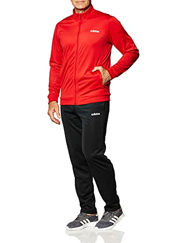 Adidas Heren MTS BASICS trainingspak, Scarlet/Zwart, S
