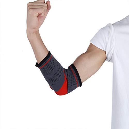 Ellenbogenstütze Silica Gel Ellenbogenstütze Schweißabsorbierend, für Sport Optional Größe S, M, L, XL(L code)