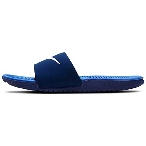 Nike KAWA Slide (GS/PS), Zapatillas Deportivas, Blue Void Signal Blue Pure Platinum, 33.5 EU