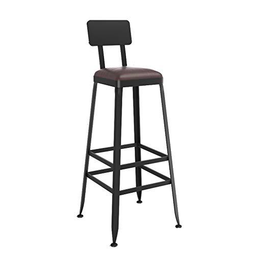 GXJ-stool Barstuhl, Kaffeehaus Barhocker Schwammholz Sessel Eisenkunst Stable Tea Shop Counter Hoher Hocker Stuhl Höhe 65-75 cm (Farbe : B, größe : 65CM)