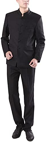 Chinese collar suit _image2