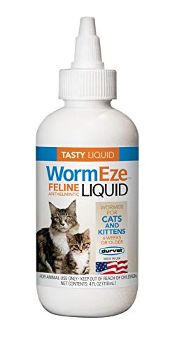 Durvet Wormeze Feline Liquid Wormer for Cats & Kittens 4oz.…