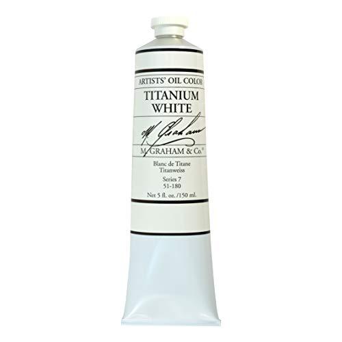 M. Graham & Co. Artist Oil Paint Titanium White 5oz Tube