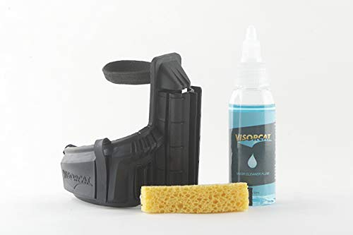Visorcat, veilige reinigingsinstallatie voor helmvizieren.