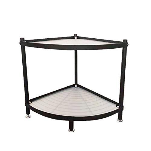 Estantería de esquina de acero inoxidable con estantes de esquina para baño, estante de almacenamiento triangular para cocina (color: tipo 2)