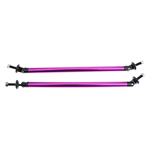 Sharplace 2X Tige de Séparatio Diffuseur Lèvre de Pare-Chocs de Voiture 20CM 7.9inch - Violet
