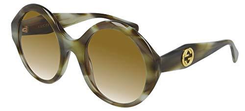 Gucci Gafas de sol GG0797S 003 Gafas de sol mujer color Marrón Habana tamaño de lente 54 mm