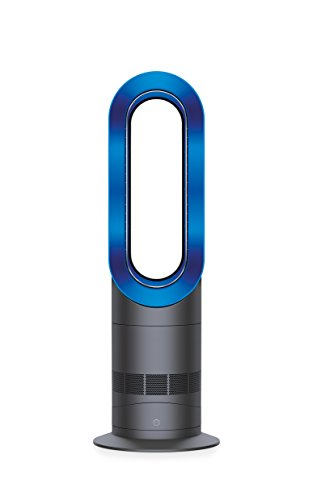 Dyson AM09 Fan Heater, Iron/Blue
